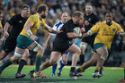 Owen Franks courted controversy during the All Blacks' win over the Wallabies. Photo / Brett Phibbs