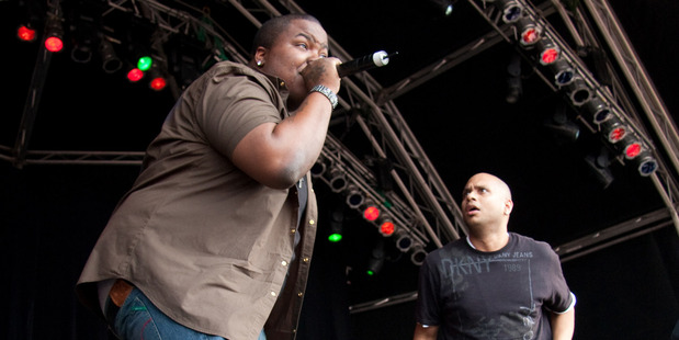 Sean Kingston performing at the 2010 Ragamuffin Festival in New Zealand. Photo / Mark Dromgoole