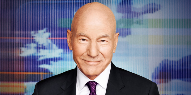 Patrick Stewart became the butt of Amy Schumer's jokes at the GQ Men of the Year awards. Photo / Supplied