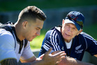 RECORD REIGN: Sir Gordon Tietjens, pictured with Sonny Bill Williams at Blake Park, has stood down as All Blacks Sevens coach after 22 years. PHOTO/FILE A-290316aw02BOP