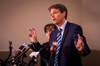 Colin Craig with his wife Helen during a press conference last year. Photo / File