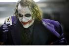 Heath Ledger as the Joker, in the Batman movie The Dark Knight.