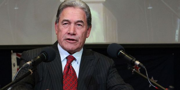 On the campaign trail: Winston Peters. Photo / Christine McKay