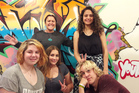 Mana Youth Group meets on Friday evenings in Papamoa. Youth worker Rhonda McPhee centre with Chloe Avello and front from left Tyne Mulford, Rebecca Sail and Jeremy Sail. Photo/Carmen Hall