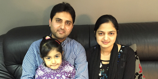 Sarah with her father Suhail Patel and mother Nashrin Patel. Photo / Sarah Harris