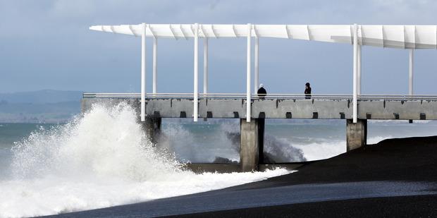 High seas off Napier. Photo Paul Taylor