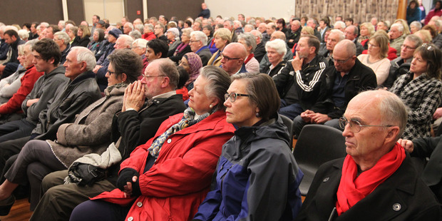 A 350-plus strong crowd was in attendance last night for the first of two Mayoral debates being hosted by the Hawke's Bay Today. Photo / Duncan Brown