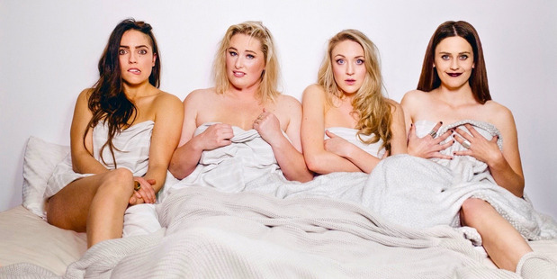 Jess Holly Bates, Luci Hare, Holly Shervey and Jess Sayer from Auckward Love. Photo / Sacha Stejko