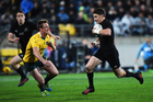 Beauden Barrett during the second Bledisloe Cup match in the Investec Rugby Championship. Photo / www.Photosport.nz