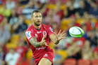 Quade Cooper in action for the Queensland Reds during the 2014 Super Rugby season. Photo / Photosport