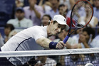 Andy Murray reacts after losing a game in the fifth set of his match with Kei Nishikori. Photo / AP