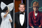 Sia, James Corden and Pharrell all pitched in to help launch the new iPhone. Photos / AP, supplied