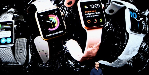 The new Apple Watch Series 2 is waterproof to 50 metres. Photo / Bloomberg
