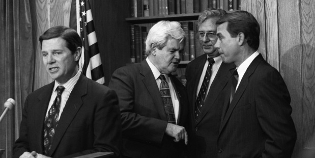 With the Republican takeover of the House in 1994. Photo / James A. Parcell