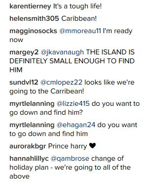 Some of the comments users left on the Kensington Royal Instagram announcement. Photo / Instagram