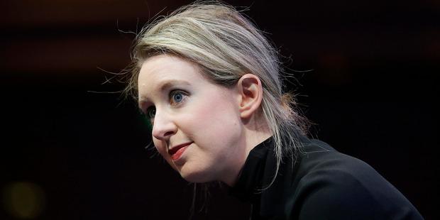 Theranos founder Elizabeth Holmes. Photo / AP