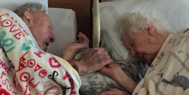 "Posted to Reddit the user wrote: ""My Grandma, 96, with my Grandpa, 100, hours before her death."" Photo /  RealLiveGirl, Reddit"