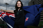 Holly Robinson of New Zealand poses after being named as the flag bearer during the New Zealand Paralympics Rio 2016 team welcome. Photo / Getty
