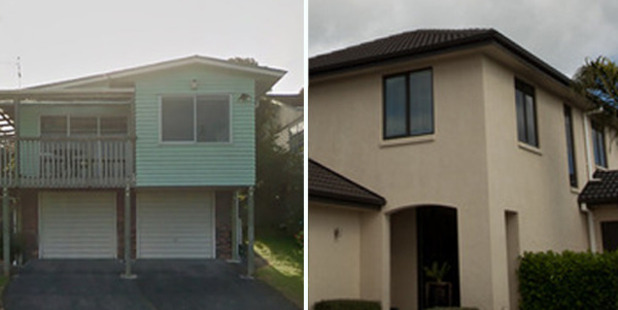"Loading An Auckland couple have cashed in on their dated home (left) and moved to Rotorua where they bought a ""top of the range"" property (right) for less."