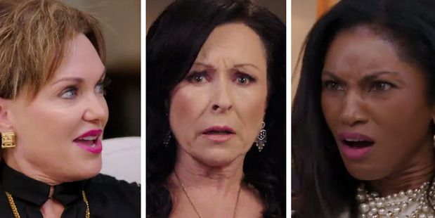 "The Housewives react to Julia Sloane's ""party favours""."