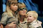 Terri Bindi and Bob Irwin at the memorial service for Steve Irwin at Australia Zoo in 2006. Photo / AP