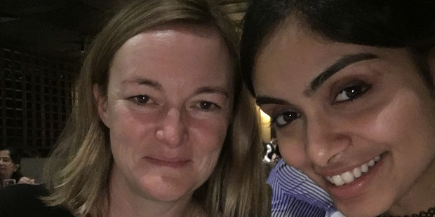 Bay of Plenty Times reporter Juliet Rowan takes a selfie with Miss India 2015 runner-up and former New Zealand's Next Top Model contestant Aafreen Vaz while in India. Photo/supplied