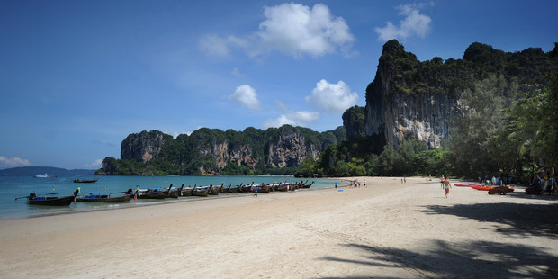 Hannah Gavios got lost on pitch-black Railay Beach and went into a local tourist shop seeking help. Photo / Getty IMages