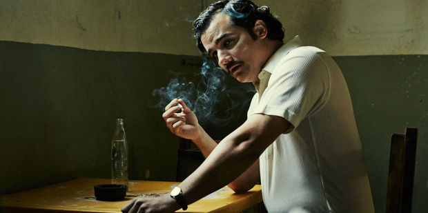 Loading Wagner Moura as Pablo Escobar in the Netflix series Narcos.