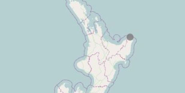 Loading One of the strongest aftershocks has rocked the North Island's east coast early today. Photo / GeoNet