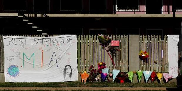 Flowers and memorial at Shelley's hostel, where Ms Ayliffe-Chung was killed. Photo / Mark Calleja, News Corp Australia