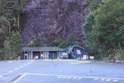 A building has been hit by a landslide in Milford Sound. Photo / DOC