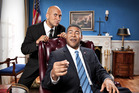 Keegan-Michael Key and Jordan Peele as Barack Obama (Peele) and Luther the Anger Translator. Photo / Ian White, Comedy Central