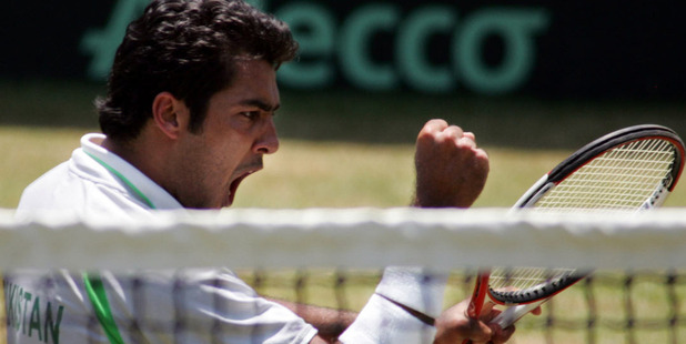 Aisam-ul-Haq Qureshi of Pakistan is refusing to play tennis in Christchurch. Photo / Getty