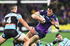The Storm finished top and they face the Cowboys in week one of the NRL playoffs. Photo / Getty