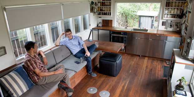 Left to right: Minim Built owners Brian Levy and Chris VanArsdale. Photo / Linda Davidson