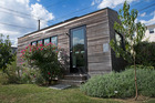 An exterior view of a Minim House. Photo / Linda Davidson