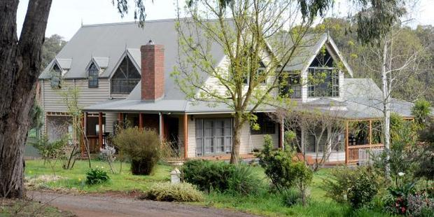The Tromp family home in rural Silvan. Photo / Andrew Henshaw, News Corp Australia