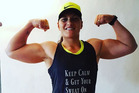 Double Olympic champion Valerie Adams flexes her muscles in a photo posted on her Instagram account. Photo / valerieadams84