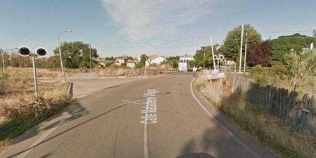 The Palencia - Santander train line passing through Osorno. Photo / Google streetview