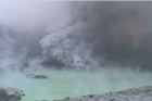 Video from on the island at the time of eruption earlier today