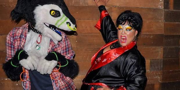 "Zia Burkhardt getting ""wild"" in drag. PHOTO/Facebook"