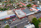An aerial view of the 1459sq m site in two titles at 320 and 322 Great South Road.