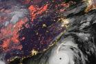 A satellite image of Meranti off the coast of Taiwan and China. Photo / NOAA