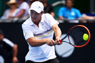 New Zealand No 1 tennis player Finn Tearney at action in the ASB Classic. Photo / photosport.nz