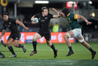 All Blacks fullback Ben Smith in action against South Africa. Photo / Brett Phibbs