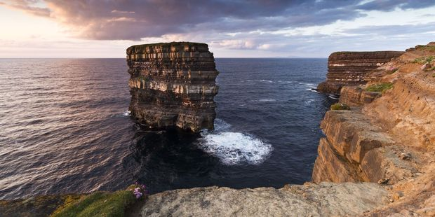 The Dun Briste sea stack off Downpatrick Head in northwestern Ireland. Adventurer Iain Miller has become the first person to scale it in 25 years. Photo / 123RF