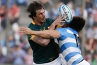 Eben Etzebeth is a key figure for South Africa but has been blighted by leg injuries. Picture / AP