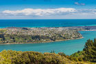 Dunedin City in the middle of Otago Harbour and the Pacific Ocean. Photo / 123RF