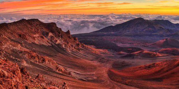 The volcanic crater landscape at Haleakala National Park in Maui, Hawaii. Photo / 123RF