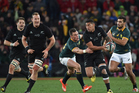 The last time these two played in a Rugby Championship fixture, the All Blacks ground out a tough 27-20 win at Ellis Park in Johannesburg. Photo / Photosport